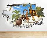 Pegatinas 3D para pared, diseño de animales y isla