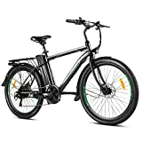 ANCHEER 26' Electric Bike for Adults, Electric Commuting Bicycle with Removable 36V 10Ah Battery with 22-40 Mile Range, 6-Speed Gears City Ebike