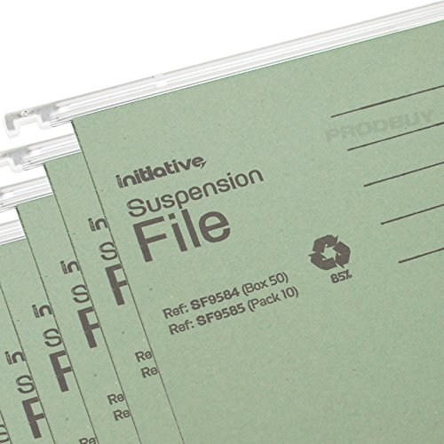 [Pack of 25] Filing Cabinet 215gsm Hanging Suspension Files Card Folders Tabs Inserts (A4 (Will fit 32.2cm - 33.7cm))