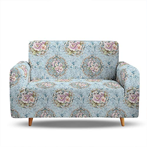 Sofa Slipcovers 1 2 3 4 Seater,3D Digital Printing Sofa Covers,Elastic Sofa Cover Universal Arm Sofa Covers Protector Couch Slipcover Stylish Furniture Protector 2 Seater