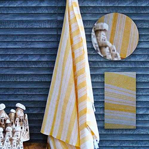 Anatolian Palace Bazaar 100% algodón 10 colores rayas patrón Peshtemal secado rápido (para sauna playa gimnasio baño) ducha y pelo toalla extra grande 100x180cm