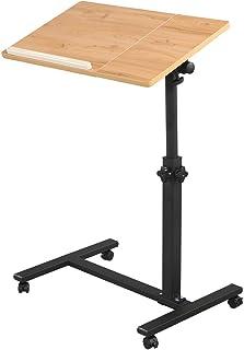 Rolling Laptop Table Lap Desk for Laptop Rolling Cart Tilting Overbed Bedside Table Overbed Desk Overbed Table with Wheels...