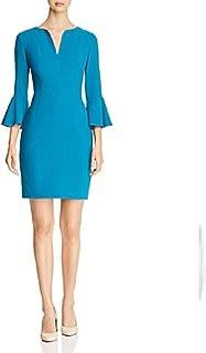 Elie Tahari. Women's Natanya Crepe Sheath Dress - Aegean Sea - Size 14