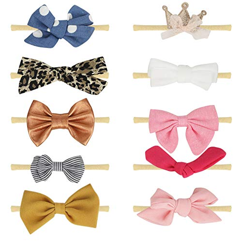 COUXILY Babys Knotted Headband Bow Cotton Knotted Headwraps Photograph 6-P03