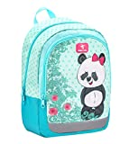 Belmil Kinderrucksack Mädchen für 3-6 Jährige - Super Leichte 260 g/Kindergarten/Krippenrucksack Kindergartentasche Kindertasche/Panda/Türkis (305-4 Panda)