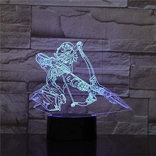 3D Night Light Action Figure Link The Legend of Zelda Wild Breath Night Light Jiren 3D Phantom Table Lamp Zelda 3D Lighting