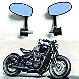 1 Paire CNC Retroviseurs Moto Embout De Guidon 7/8 22 MM Guidon Barre D'extrémité Rétroviseurs