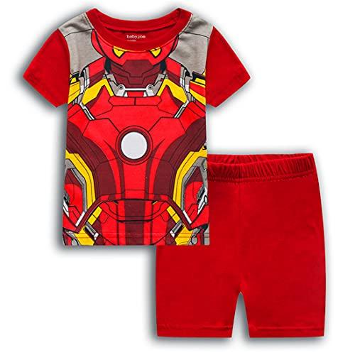 EA-SDN Juego de pijama infantil de Iron Man, camiseta y pantalones cortos en 3D, para verano, para...