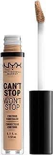 NYX PROFESSIONAL MAKEUP Can't Stop Won't Stop Contour Concealer, Natural, 0.11 Ounce