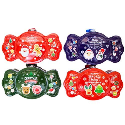 PretyzOOM 4 unidades de caixas de doces para padaria de Natal para festas de fim de ano, lembrancinhas e lembrancinhas