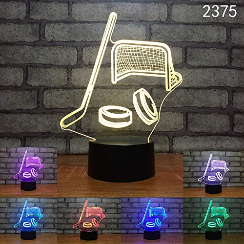 WAGUZA Playing Golf 3D Lamp 7 Colors Tee Up Led Night Lamps Touch Led USB Table Lampara Lampe Baby Sleeping Nightlight Room Lamp