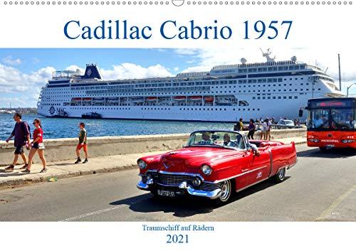 Cadillac Cabrio 1957 - Traumschiff auf Rädern (Wandkalender 2021 DIN A2 quer)