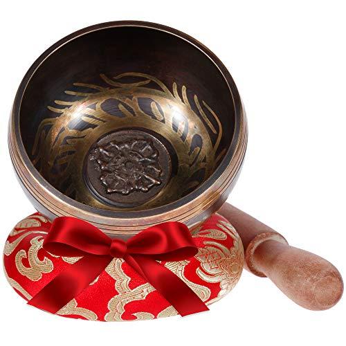 Rovtop Tibetan Singing Bowl Set for Meditation Chakra Healing, Prayer,Yoga, and Healing Through Vibration Buddhism Singing Bowl