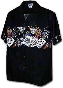 Pacific Legend Texas Hold' Em Gambling Shirts Black XL by