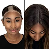 Milano Collection Lace WiGrip Velvet Comfort Wig Grip Band for Lace Wigs and Frontals with Reinforced Swiss Lace by HAIRLINE and PART (PATENTED) (Brown)