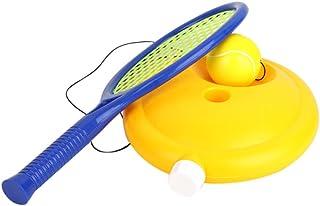 Lazapa Tennis Trainer Rebounder Ball Singles Training Practice Balls Back Base Trainer Tools for Children Beginner Single Tennis Training Set with Racket