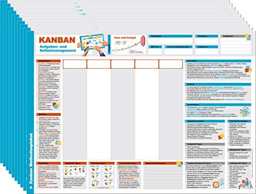 10er Set für die Schulung Kanban Methoden - Plakat / Poster - Aufgaben- / Selbst- und Zeitmanagement mit dem personal Task-Board