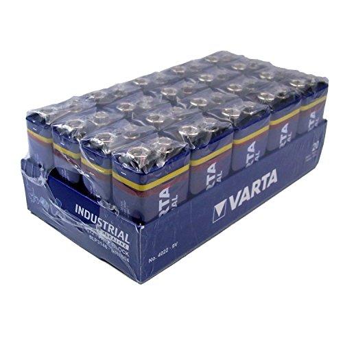 Varta 4022 Industrial Alkaline Block LR61 Batterie (9 V, 20-er Pack)