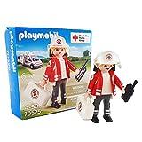 Playmobil DRK 70525 - Juego de sanitarios con maletín y dispositivo de radio