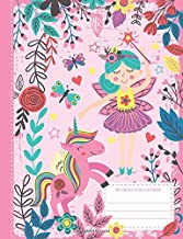 My composition notebook: cute and sweet journal for girls - wide ruled line paper - pink unicorn - 120 pages - 6,44 x 9,69 inch