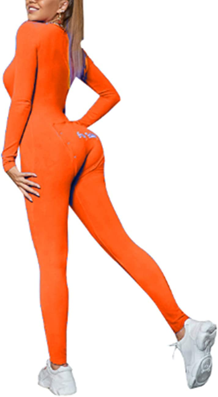 CYWYQ Womens One Piece Pajama Union Suit Sexy V-Neck Buttoned Long-Sleeved Jumpsuit Thermal Underwear Set