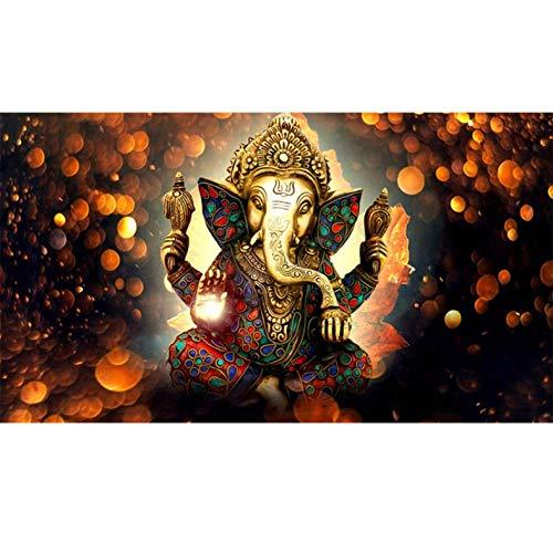 Arte Impresiones en lienzo 1 piezas Cuadro en lienzo Señor Estatua Buda dibujo Religión Elefante dorado Dibujos decorativos-70 * 105cm