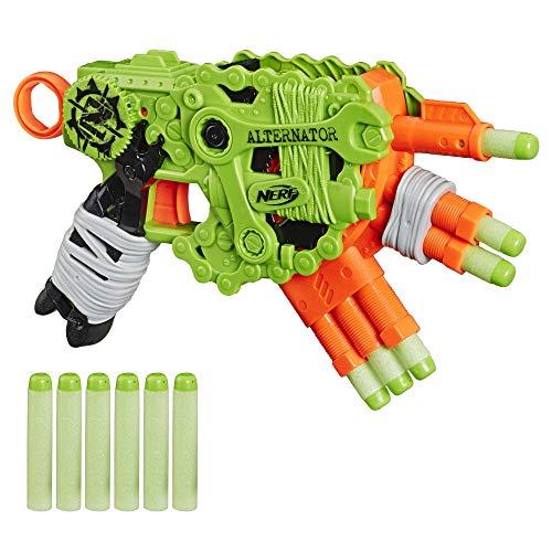 Nerf Alternator Blaster – Dispara 3 Maneras – Incluye: 12 Dardos Oficiales Zombie Strike Elite – para niños, Adolescentes y Adultos (Hasbro E6187EU4)