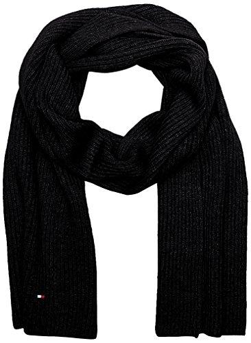 Tommy Hilfiger Herren PIMA Cotton Cashmere Scarf Schal, Schwarz (Black 002), One Size (Herstellergröße: OS)