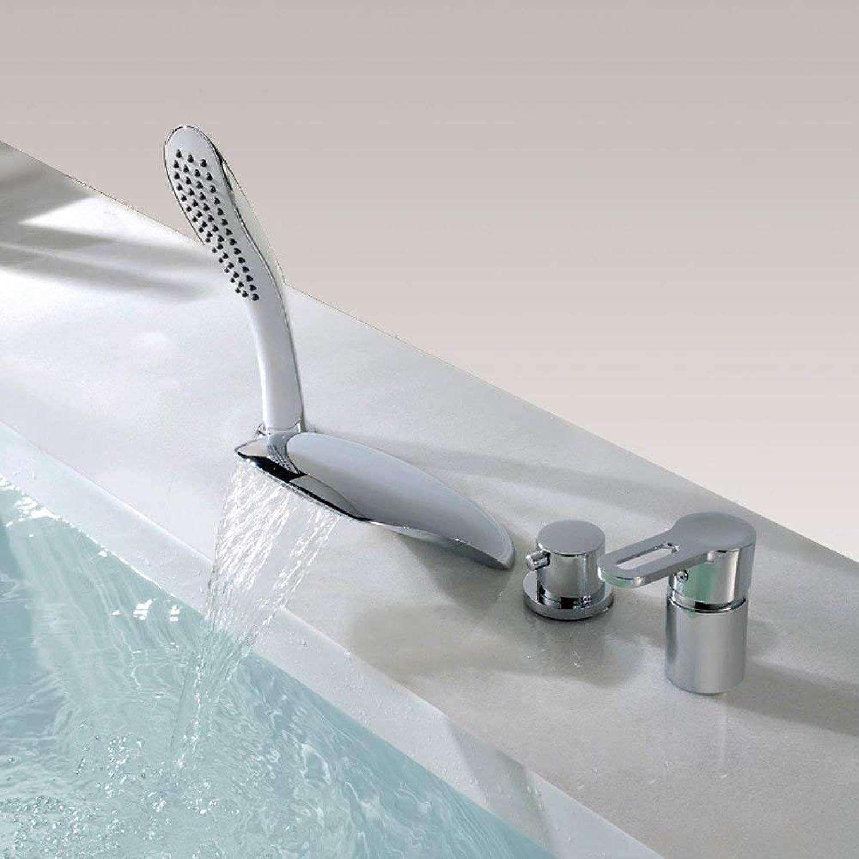 BMY Home High-End Moderne Mode Dusche 4 STüCKE Wasserfall Badewanne Wasserhahn