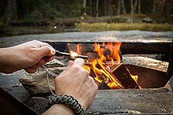 The Friendly Swede Pierres à Feu de Survie en Ferrocérium à Prise Ergonomique - Allume Briquet avec grattoir pour Camping et Randonnée - Lot de 2 ou Un (Noir)