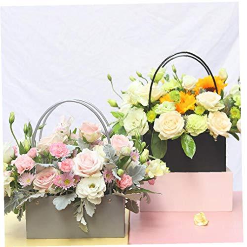 Lankater Blumen-Papier-Boxen Hug Eimer Florist Geschenk 22x11x10cm Hauptdekoration-Party-Geburtstags-dekor Zubehör Papiertüten Für Geschenke