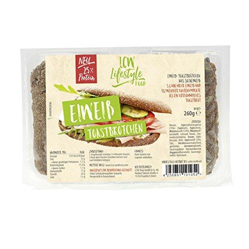 LCW Fertige Eiweiß Toastbrötchen 260g 3er Pack (3 x 260 gr)