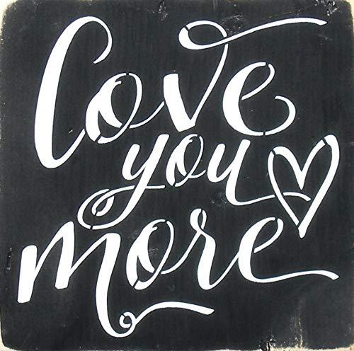 Ced454sy liefde u meer rustieke houten teken romantische liefde citaat schilderij bruiloft verjaardag 5 jaar hout cadeau teken onderdrukt hout Valentine schilderij