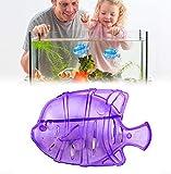 Filtro de pescado de 10 piezas,limpiador de tanque humidificador,accesorios de tanque de peces de limpieza para cambiar el agua,lavar la arena, limpiar la grava (Purple)