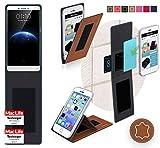 reboon Hülle für Oppo R7 Plus Tasche Cover Case Bumper | Braun Leder | Testsieger