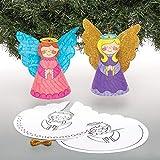 Baker Ross Adornos ángel cónicos para Colorear (Pack de 10) - Ideales para Manualidades Infantiles