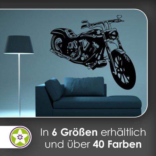 Kiwistar Motorrad Wandtattoo in 6 Größen - Wandaufkleber Wall Sticker
