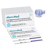 mommed test gravidanza precoce(25 miu/ml), 25 x test di gravidanza precoce con 25 x coppette per urina, pregnancy test, hcg tests con una precisione superiore al 99%, confezionato singolarmente