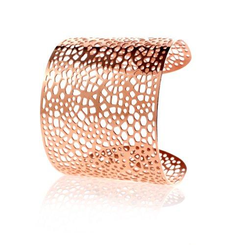 Karisma Frauen Edelstahl Armreif - Rosé Gold beschichtet- SB0345.RG-/Breite 55mm