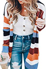 ❤Material:Polyester. Soft stretch and warm material,head-turning design and comfortable to wear. ❤Features:Striped, Color Block, Knit, Long sleeve, Show your own style. ❤Occasion:Best Choice for Casual, Office, Party, Dating, School, Street wear and ...