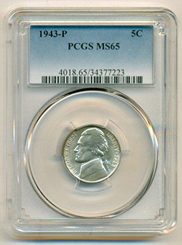 1943 P Jefferson Silver Nickel MS65 PCGS