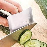 Dedo del protector de cuchillo Ayudante de Cocina Herramientas de mano cortador de acero inoxidable del dedo Protect plata herramienta de la cocina