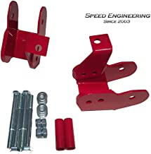 Camaro & Firebird Lower Control Arm Relocation Brackets 1993-02 (Red)