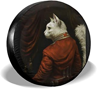 LionRiver Hermitage Court Chamber Herald Cat Spare Tire Wheel Cover for Car SUV Camper Truck Outlander (14'',15'',16'',17'' Tyre Diameter)