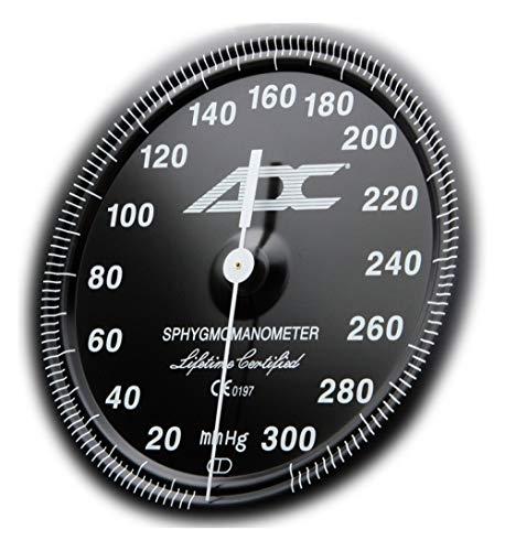 ADC - 700-11ABK Diagnostix 700 Pocket Aneroid Sphygmomanometer with Adcuff Nylon Blood Pressure Cuff, Adult, Black