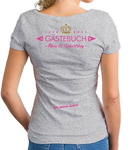 shirtdepartment - Damen B-Day T-Shirts - Personalisiert - Wunschname + Zahl - Mein...