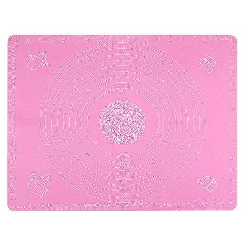 Seifenprofis Pritogo® Rollmatte Backmatte XXL 65 x 45 cm (Blau/Rosa) aus Silikon - Antihaft - BPA-Frei - rutschfest