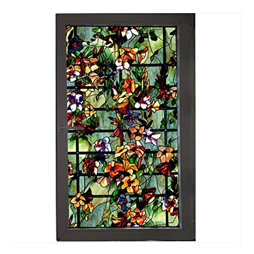 Privacy Window Film,Stained Glass Window Not-Adhesive Static Cling Glass Film for Door Home Office Hotel Bathroom Living Room-a 100x70cm(39x28inch)