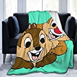 FBIIIOU Chip N Dale Blanket Soft Blanket Fuzzy Blanket Comfortable Blanket Picnic Blanket Beach Blanket Navy Blanket Suitable for Adult Parents and Children Sofa Bed80 X60