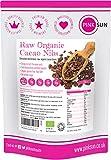 PINK SUN Nibs de Cacao Orgánico 1kg Crudo Criollo Puntas Sin Gluten Vegetariano Vegano Bio Puro Raw Organic Cocoa Nibs 1000g Perú Bulk Buy